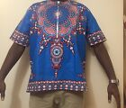African Print man Shirt Dashiki Size XL