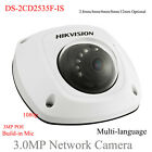 Multi-language DS-2CD2535F-IS 3MP H.264 Audio POE Mic/Microphone Dome IP Camera