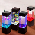 Jellyfish Fish Aquarium Tank Volcano LED Water Lamp Sea Mood Night Light Decor