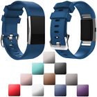 Replacement Sports Silicone Wrist Strap Rubber Watch Band For Fitbit Charge 2