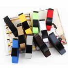 1pc mulit color Unisex Waist Belt Plain Webbing Waistband Casual Canvas Belt