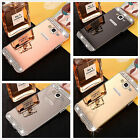Luxury Aluminum Metal Frame Diamond  Mirror Case Cover For Samsung Galaxy Phone