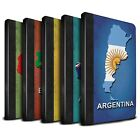 STUFF4 PU Leather Book Case/Cover for Apple iPad Mini 4/Flag Nations