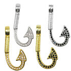 Zirconia Crystal Fishing tool Hook Bracelet Connect Bead Long Cooper Gold Filled
