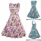 Women Summer Fashion Casual Sleeveless Floral Mini Party Cocktail A-line Dress