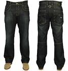 MENS NEW JEANS TEDDY SMITH RILEY IN BLUE WASH LOOSE FIT STRAIGHT LEG RRP £29.99