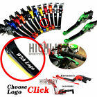 CNC Adjustable Folding Brake Clutch Levers lever For KAWASAKI ZX7R ZX7RR 89-2003