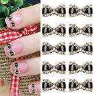 10X 3D Exquisite Metal Bowknot bow Nail Art Glitters Decor Manicure Tips New SE