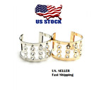 New Women Gold or Silver Plated Jewelry Fashion Multi Stone Cuff Bracelet