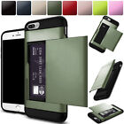 Hybrid Rubber Shockproof Card Pocket Wallet Hard Case Cover For iPhone 6 6s Plus