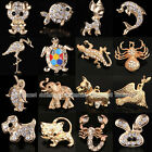 Crystal Rhinestone Wedding Bridal Animal Diamante Brooch Pin Jewelry Party Gift