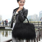 Women's 100% Real Mongolia Lamb/Sheep Fur Bag Clutch Trendy Purse Handbags