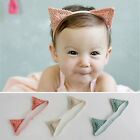 Newborn Baby Infant Gold Cat Ears Headband Animal Costume Hairband Photo Props