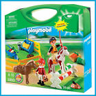 NEW PLAYMOBIL COUNTRY PONY FARM TAKE ALONG CASE SET HORSE RIDING 5893