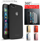 2in1 iPaky 360° Hard Ultra thin Case + Tempered Glass Cover For iPhone 7 7 Plus
