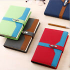 A5 2017 Daily Planner Schedule Calendar Notebook Diary Hami Pull-up Leather #JP