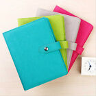 A5 Business Loose Leaf Planner Schedule Notebook Ruled Diary Snap PU Leather #AU