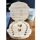 Wooden Infant Baby Milk Teeth Holder Tooth Box Saver Organizer Storage Case More
