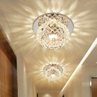 Modern Crystal 3W LED Ceiling Light Lamp Downlight Bedroom Hall Porch Lighting A