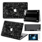 "3 in1 Black Math Prints Paint Hard Case Cover for Macbook Air 11""12"" Pro 13""15"""