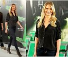 IN STOCk Equipment Signature Slim Fit Washed Silk Blouse Shirt Black XS S M L