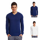 Copperside Mens 100% Cotton V-Neck Sweater Shirt Pullover Sport