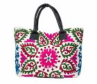 VINTAGE FASHION ETHNIC EMBROIDERED INDIAN COTTON MADE HANDBAG HOBO TOTE BAG