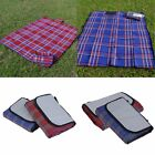 """Large 57x79"""" Waterproof Picnic Blanket Beach Mat Camping Rug Red Outdoor"""