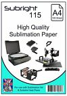 Subright 115 A4 Heavy Duty Sublimation Paper