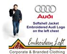 AUDI LOGO EMBROIDERED SOFTSHELL JACKET.. 2 COLOURS IN 8 SIZES