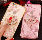 Hello Kitty Clear Tpu Rubber Case Cover For Iphone 7 6 6s Plus 5 5s Se Kickstand
