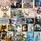 DIY 5D Round Diamond Sticker Cross Stitch Painting Home Decor Animal Cat Tiger