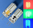 G4 Red/Green/Blue LED bulb 48-3014SMD LED light  AC/DC 12V Silicone Crystal