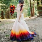 Hot New Colorful Organza Wedding Dresses Formal Mermaid Bridal Gowns in Stock