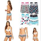Comfy Boxer Panties Ladies 100% Cotton Geometric Sports Underwear Knickers
