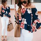 Fashion Women Off Shoulder T-Shirt Sexy Ladies summer Loose Tops Blouse