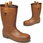 MENS DICKIES WELLINGTONS FURLINED RIGGER SAFETY STEEL TOE CAP WORK BOOTS SHOES