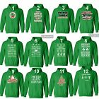 UGLY CHRISTMAS SWEATER Vacation Santa Funny unisex Men Women Hoodie Hoody GREEN