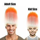 Inside Out Movie Anger Style Costume Wig Flame orange Multi Color HM-049