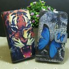Tiger Butterfly Wallet Pouch Stander flip case cover for Sony Phone