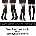 - Free shipping - Over the knee socks and pantyhose in one! / 4 colors /