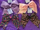 Sequined Cheer Bow Choose Pink Purple Multi Black - New