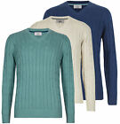 Marks & Spencer Mens Cable Knit Jumpers New M&S V Neck Aran Sweater Pullover Top