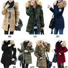Multi-Color Women's Ladies Fur Hooded Coat Fashion Long Thicken Jacket Plus Size