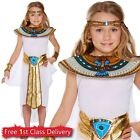 Girls Egyptian Princess Fancy Dress Costume Historical Day Kids Age 4-12 Y