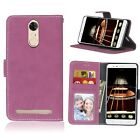 For Lenovo Frosted Leather Flip Wallet Card Holder Soft Rubber TPU Cover Case