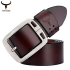 2016 New belts men vintage cowhide genuine leather pin buckle fancy cintos
