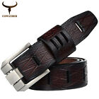 New men belts cow genuine luxury leather for men strap male pin buckle masculino