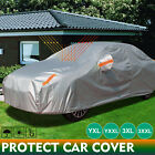 Double thicker waterproof car cover rain resistant UV dust protect car cover