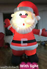 2m 3m Santa Claus Light Up Christmas Airblown Xmas Inflatable Outdoor Garden